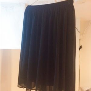 Black Skirt with Sheer Layer